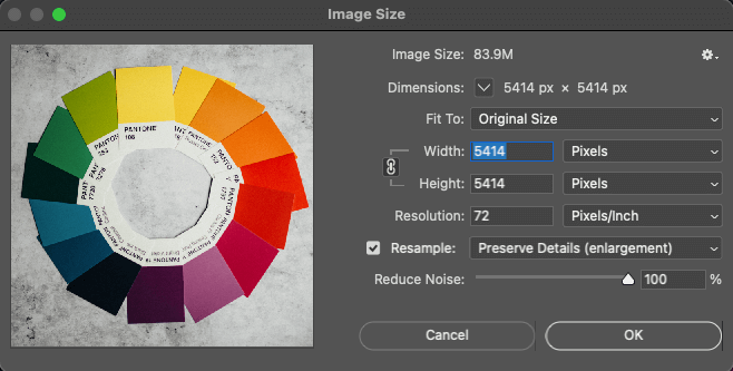 window showing photoshop image size