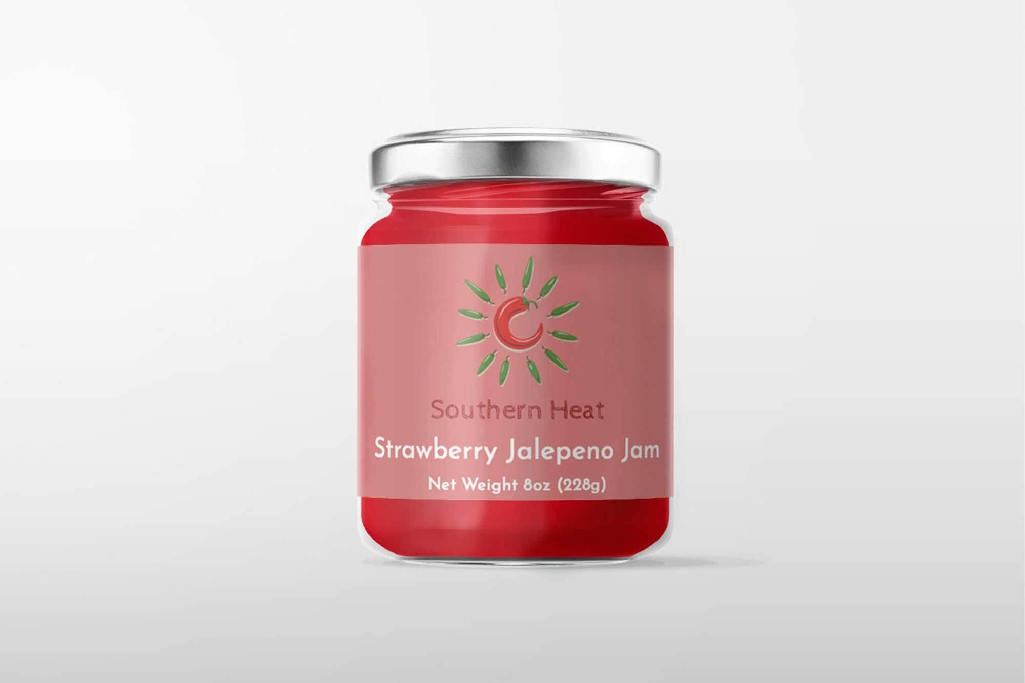 southern heat jar mockup