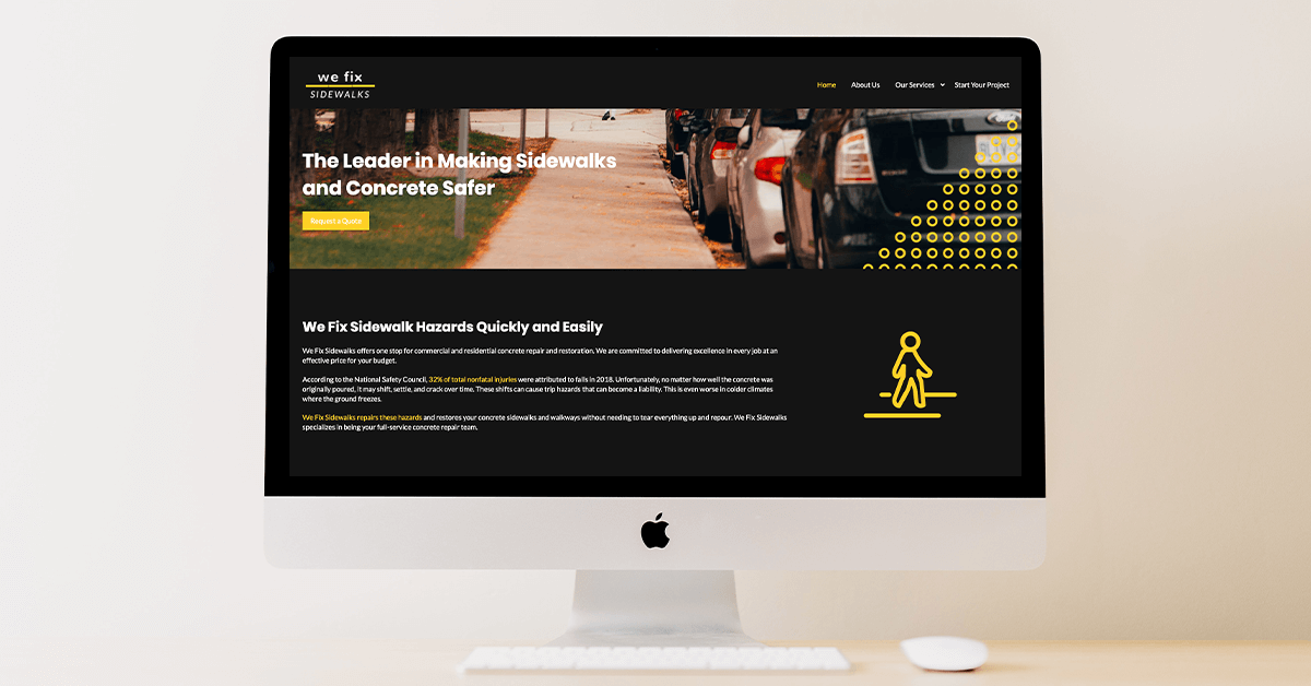 we fix sidewalks website after our redesign