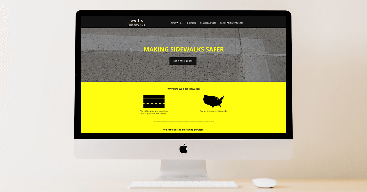 we fix sidewalks website before our redesign