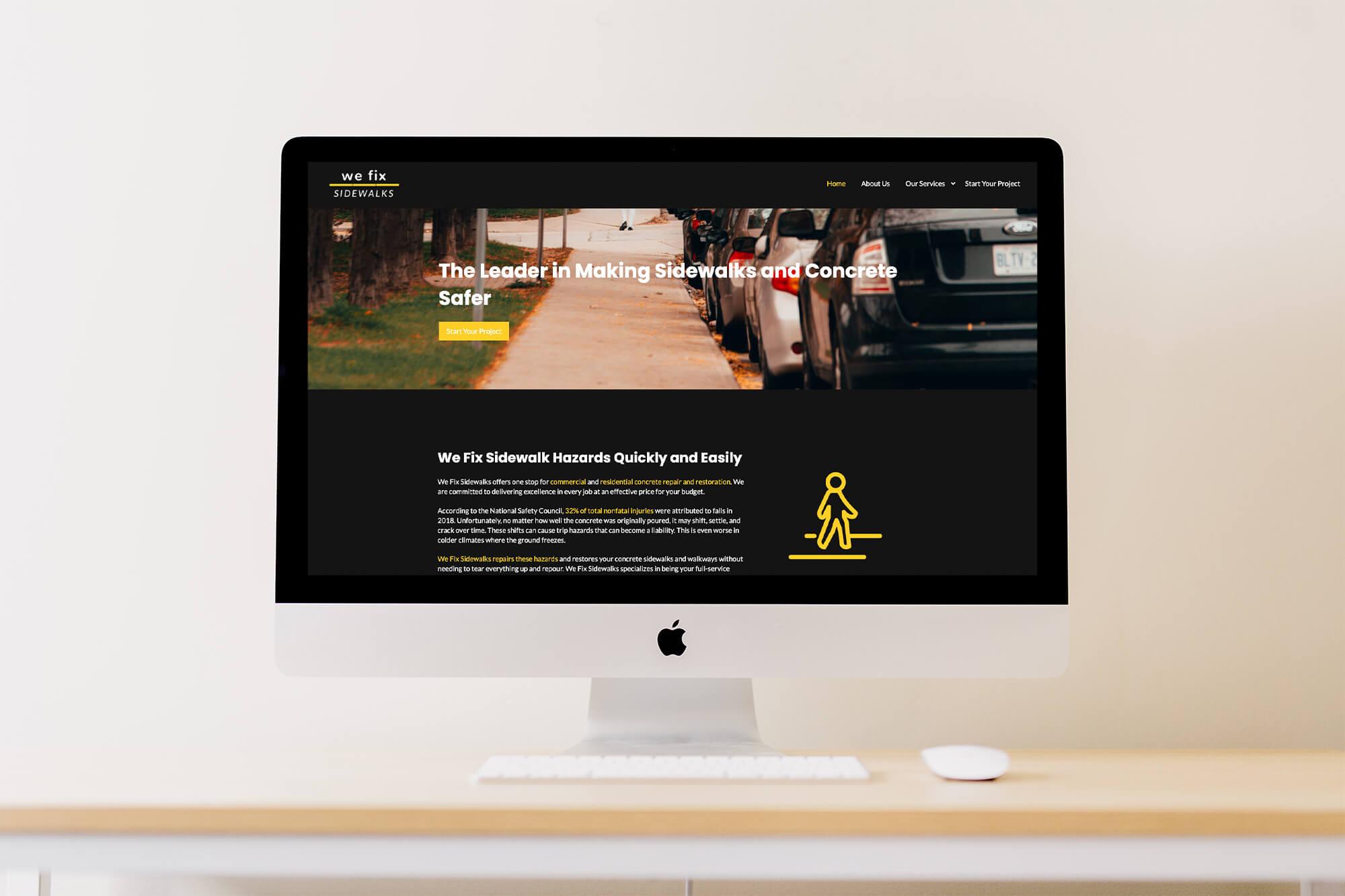 we fix sidewalks website screenshot